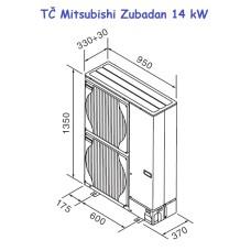 Podstavki TČ Mitsubishi Zubadan 14 kW